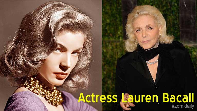 US Actress minthang Lauren Bacall sita (kum 89)