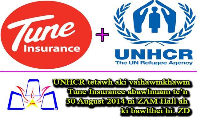 TUNE Insurance leinuamte'n August 30 ni ZAM Hall ah ki leithei