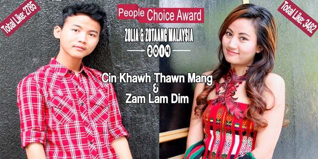 "Zolia & Zotaang ""People Choice Award"" ngahte lungdam pihna"