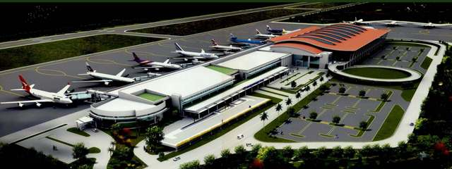 Singapore te'n Kawlgam ah International Airport lamding