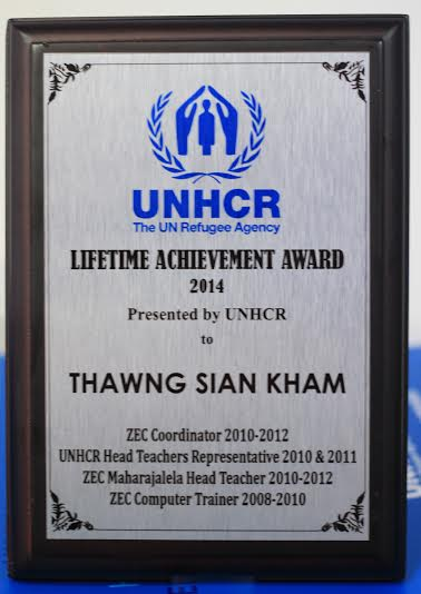 UNHCR Lifetime Achievement Award Lungdamkohna leh Thapiakna tomno [Video]