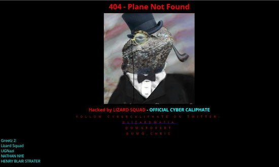 Malaysia Airlines te website ki Hack
