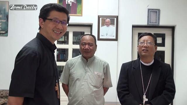 Bishop Felix & Fr. Robert tawh Zomi te holimna omding