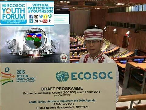 Zomi leh ECOSOC Youth Forum 2016