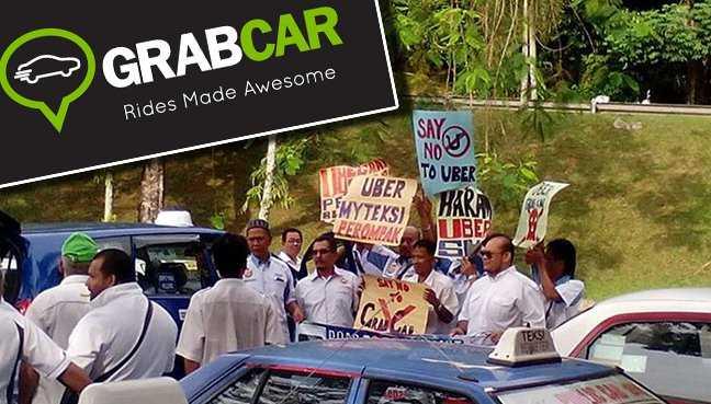Malaysia Grab Car te hangin Taxi hawlte hehmahmah