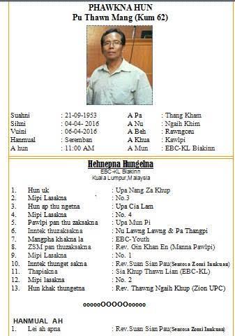 Pu Thawn Mang (kum 62) Sihvui hunngelna