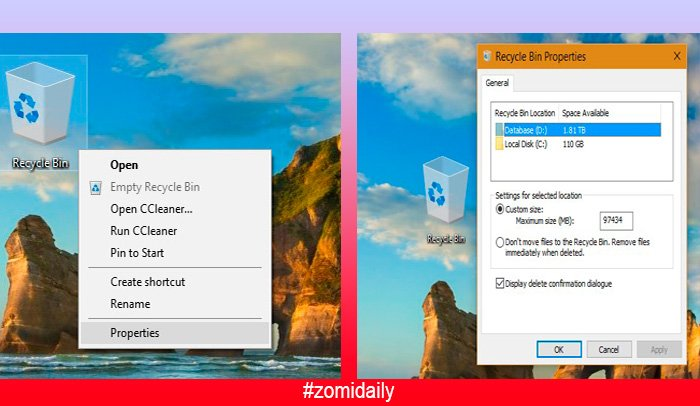 Microsoft Windows ah Delete Confirmation nadeih keileh ~ ZD