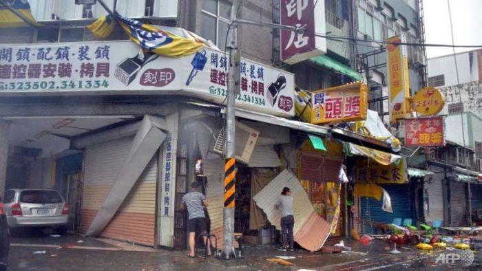 Taiwan gamsung ah Typhoon huihpi nasiatak in nung