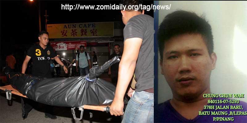 Malaysia: Pistol tawh innkuan mi 4 akaplumpa zong Palik te'n kaplumta