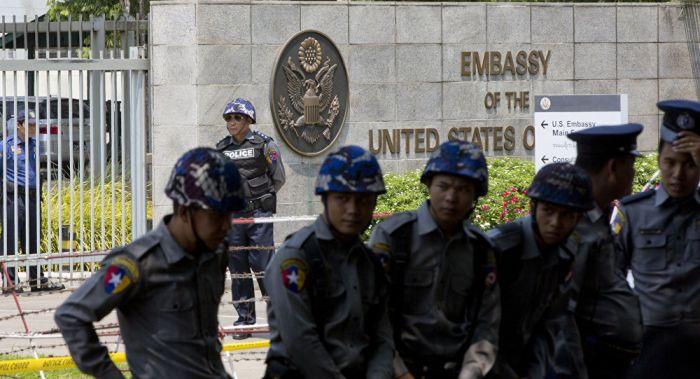 Yangon US Embassy ah apuakkham om ahih manin ki patau mahmah