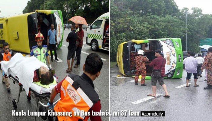 Malaysia, Kuala Lumpur khuasung ah Tour Bus khat kibung, mi 37 liam ~ ZD