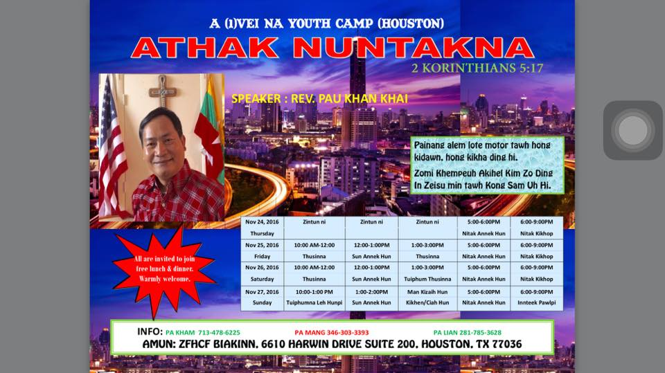Athank nuntakna: Youth Camp (Houston) ~ Sia Pau Khai