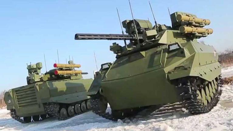 Russia in Syria ah Uran-9 Multipurpose Robotic Combat System kici galvan sawlding ngaihsun ~ TK Lian