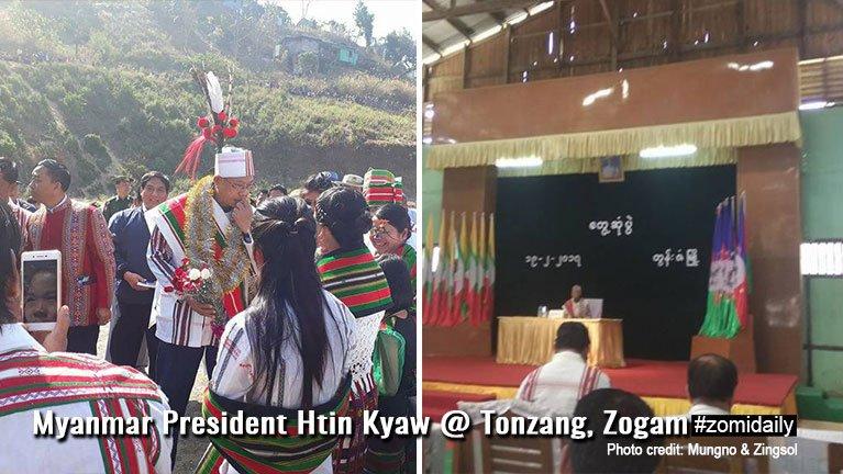Myanmar President le ulian te'n Tonzang ah khuanu khuapa te ngetna a vaihawm sakziading pulak kikna