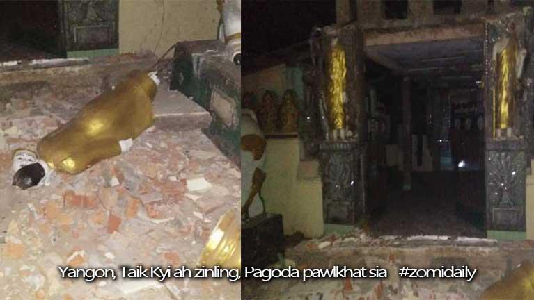 Yangon leh Taik Kyi khuasung tengah zinling in mi 24 liam, asi kizalo ~ ZD