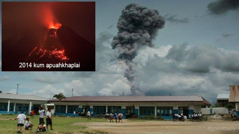 Indonesia gamsung aom Sinabung meimual puakkhamkik leuleu ~ ZD