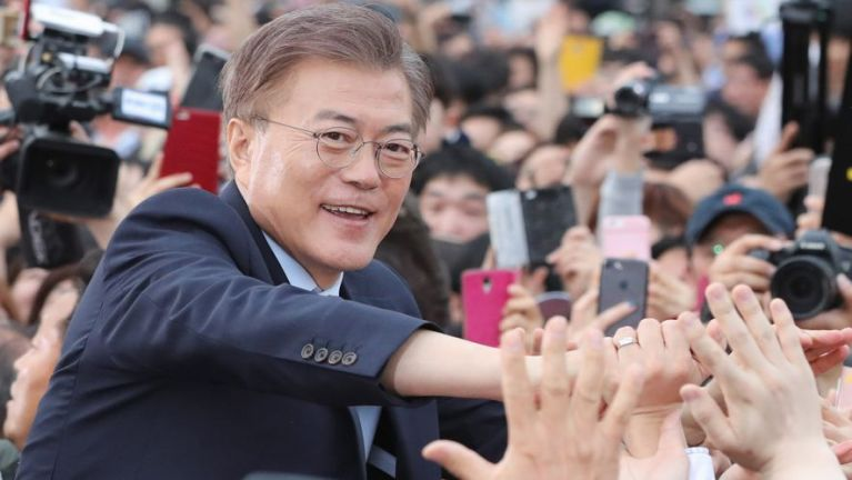 South Korea gamsung ah President thak kiteelkik khinta: Moon Jae-In