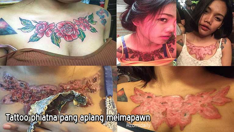 Numei khat a awmbo ah asuaih Tattoo aphiatleh meimapawn lianmahmah piang