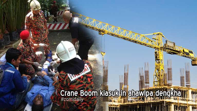 Kuala Lumpur khuasung nasepna khatah Crane Boom kia in ahawlpa liam