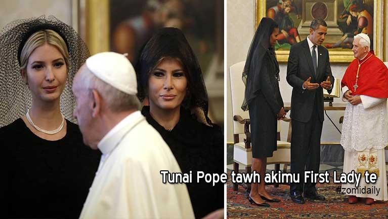 Banghang in President Trump zi in Pope tawh akimuhciang dial khimhiam?