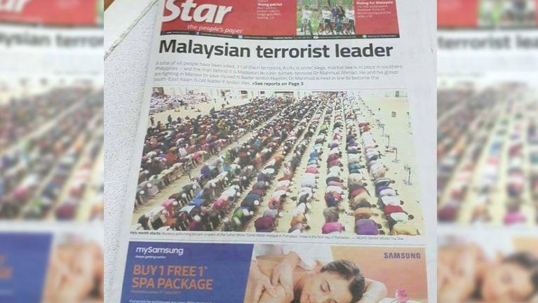 """""""The Star Newspaper"""" te Front Page ah asuahsak lai leh Photo hangin gammi biakna te hehmahmah"""