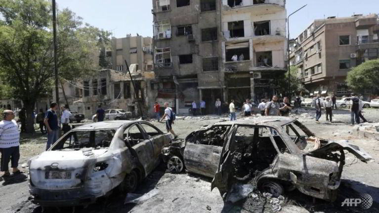 Syria, Damascus ah Car Bomb puakkham in mi 18 si, adang mi 12 liam