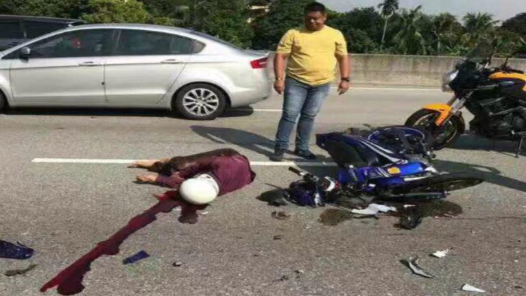 Kuala Lumpur, Jalan Duta gei ah Accident piangin Motoryclist khat sipah