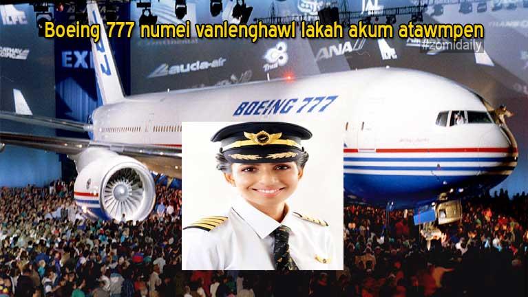 Boeing 777 numei vanlenghawl lakah akum atawmpen Indian gammi Anny Divya