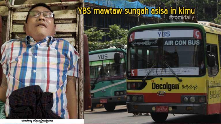 Yangon khuasung atai YBS Bus sungah Passenger khat asisa in kimu