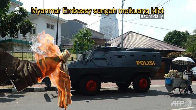 Indonesia gamsung aom 'Myanmar Embassy' sungah meikuang kilot