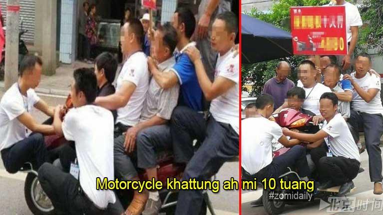 Motorcycle khattung ah mi 10 tuangin Promotional Stunt abawl te kiman