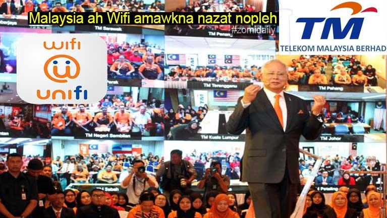Malaysia gamsung ah Wifi amawkna in na zatnopleh: unifi