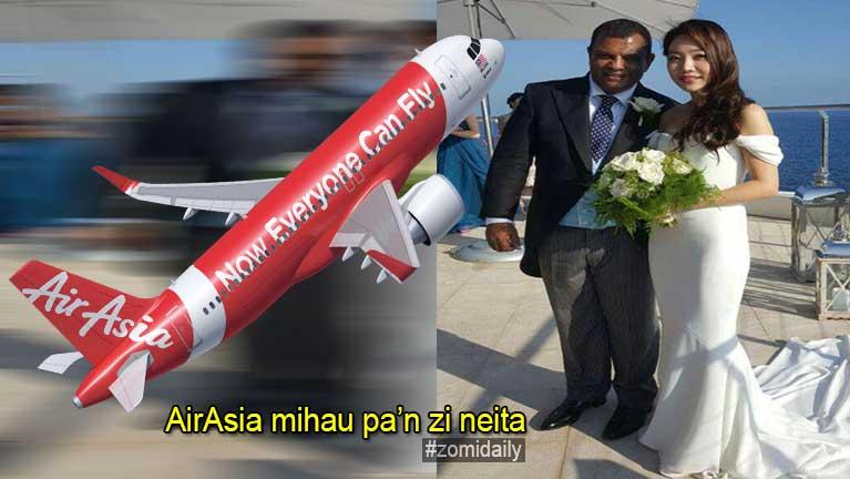 AirAsia neipa Tony Fernandes in zi nei, Korea nungakno khattawh kiteeng