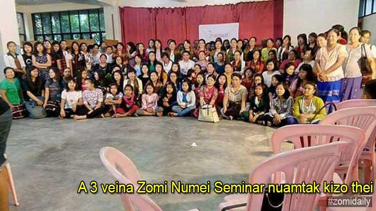 A 3 veina Zomi Numei Seminar nuamtak kizo thei