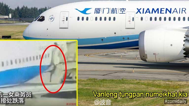 Sengam ah Flight Attendant numeikhat vanleng tungpan in kia in a awmguh kitan