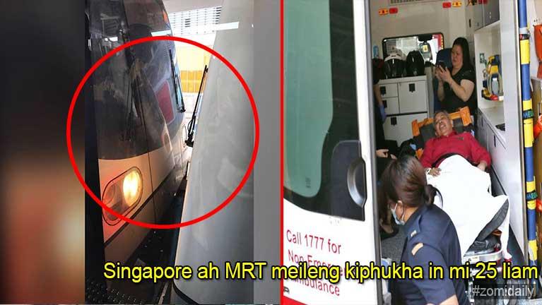 Singapore ah SMRT meileng kiphukha in mi 25 liam