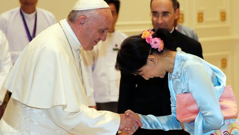 Pope in Myanmar Minorities ten phubalakna a ciing lohna dingun kunh