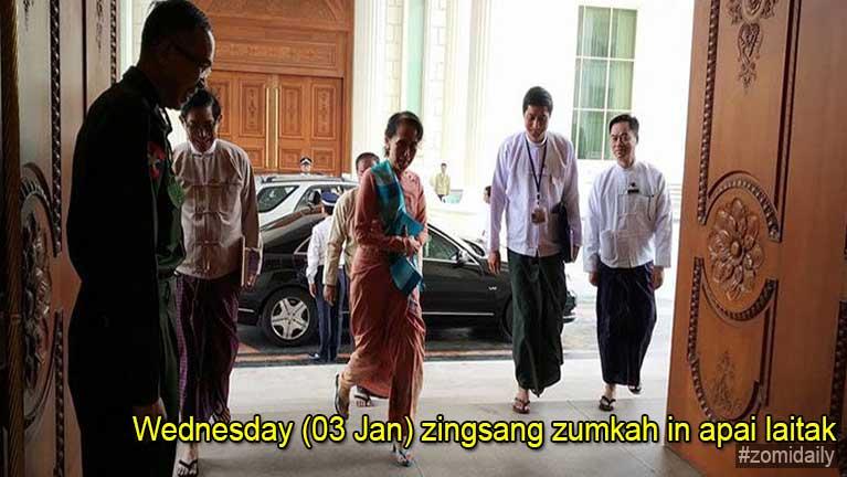 "Aung San Suu Kyi apumpi zaw ""Paralyze"" ci'n zuauthuthang ki khahkhia"