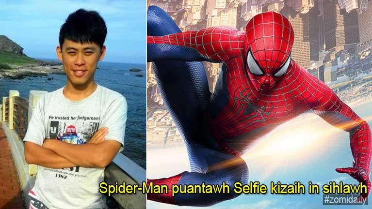 Spider-Man puantawh Selfie akizaih laitak inntungpan kia in si