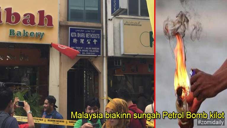 Malaysia, Kota Baru aom Methodist Christian biakinn leh Hindu Temple ah Petrol Bomb kilot