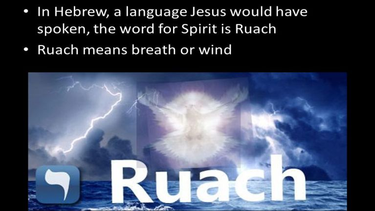 The ruach (wind/spirit)