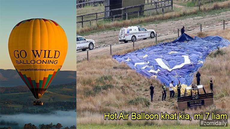 Australia, Melbourne ah Hot Air Balloon khat kia in, mi 7 liam