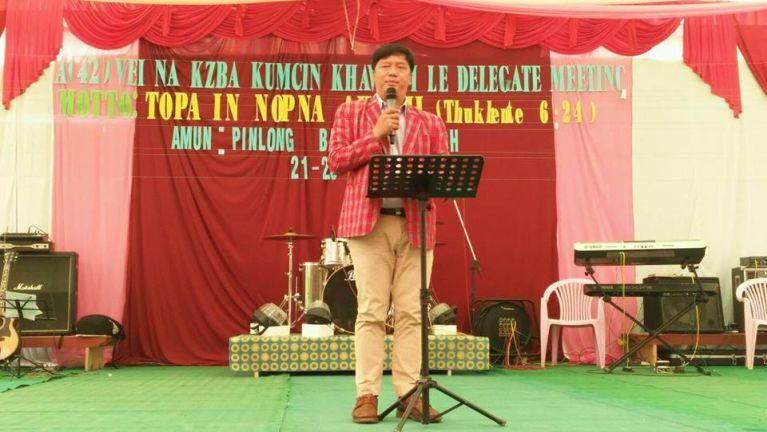 Minster Pu Pau Lun Min Thang KZBA Khawmpi ah kihelthei