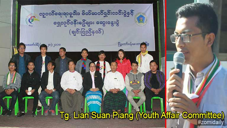 Tg. Lian Suan Piang (Youth Affair Committee) tangthu tomcing leh holimna