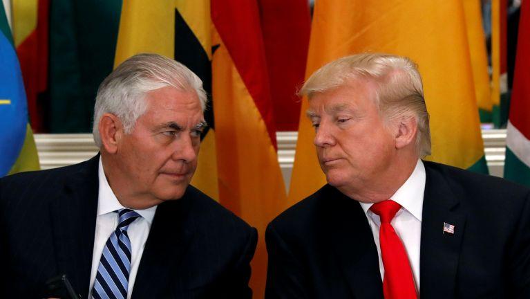 President Trump in anaseppih Tillerson (Secretary of State) nasep khawlsak