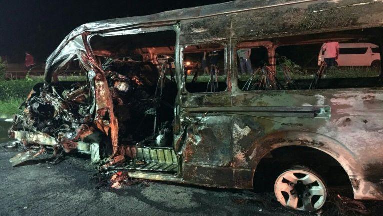 Thai gamsung ah Motor Accident in Myanmar gammi 3 meikangtum, 10 liam