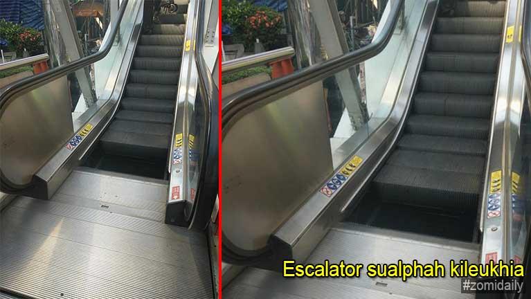 Bangkok meileng khawlna ah akithuah Escalator kileukhia in kipatau mahmah