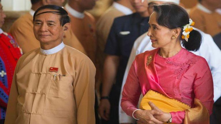Myanmar President thakding in Win Myint ki teelkhiata