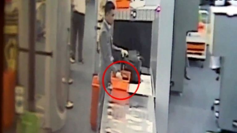 Bangkok Airport ah Security Officer khatin sum aguksak laitak CCTV pan kimu