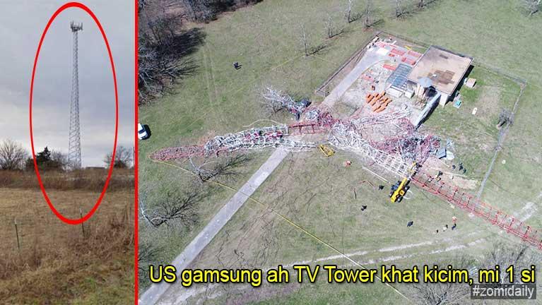 US Missouri State sung aom TV Tower khat kicim in mi 1 si, 3 liam
